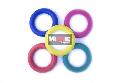 Sponge Rubber Quoits Hoop Colored Rings set of 5 Traditional Fun Play Throw Game