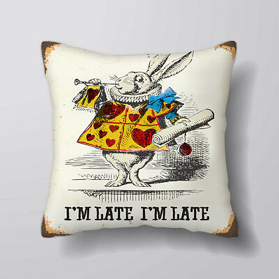 Alice In Wonderland im Late Rabbit Cushion Covers Pillow Cases Home Decor Inner