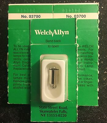 Welch Allyn 03700-U Halogen Lamp, GENUINE, Still in Package (EACH)