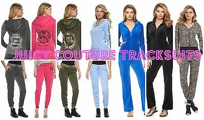 NWT Juicy Couture Tracksuit Velour Embellished Jacket Pants Sets XS S M L XL 2XL