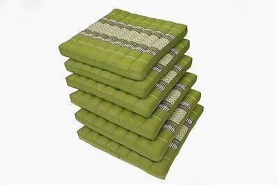 6 Kapok Seat Cushions Thai Design Bamboo reen firm support isolating floor decor