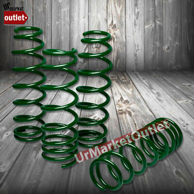 "Green 1.75"" Drop Race Sport Lowering Spring Coil Kit For 88-91 Honda Civic EC EF"