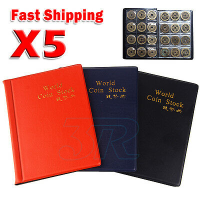 120 Coin Holders Collection Storage Money Penny Pockets Book Album Collecting 5x