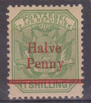 (JS-32) 1885 African republic ½d on 1/- green MH (gum creased)
