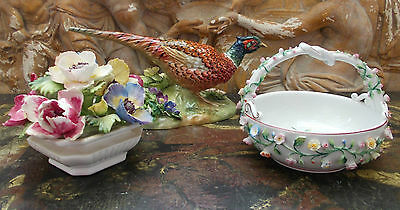 Antique porcelaine England Staffordshire Jones Chelsea dans l'état @+