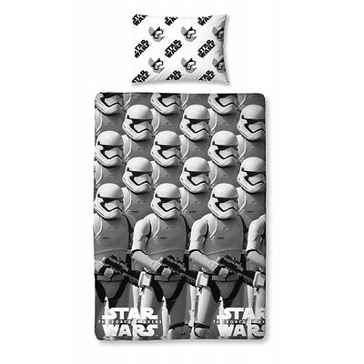 Disney Star Wars The Force 'Stormtroopers' Single Bed Duvet Quilt Cover Set Gift