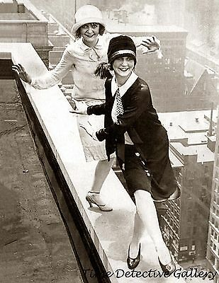 roaring 20s flappers dancing on rooftop 1920s historic photo