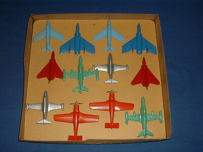 Vintage Set of Tootsietoy Metal Airplanes on Original Card in Original Box (S2)