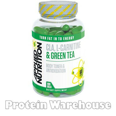 Applied Nutrition 100 Softgels CLA Carnitine Green Tea Weight Loss Tone £17.99