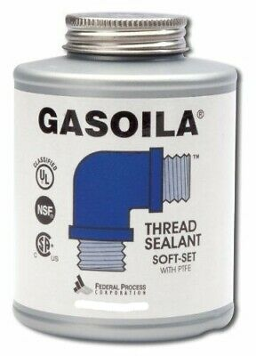 Gasoila Pipe Thread Sealant SOFT-SET with PTFE one half pint with brush SS08