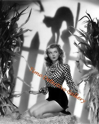 Vintage Photo Print 1940s Halloween Antics with Four Hollywood Starlets