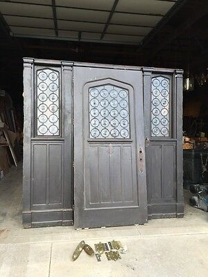 Oak Antique Door Set Entrance For Your Castle