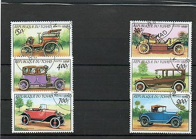******* Timbres Voitures : Serie Complete Du Tchad 1999 / Stamps Cars *******