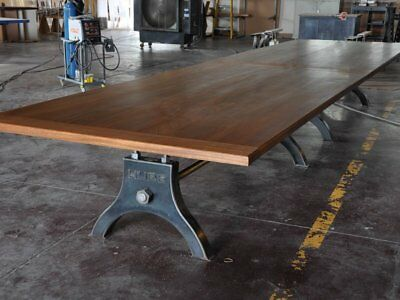 French Industrial Conference Table / Vintage Dining Table / Antique Community