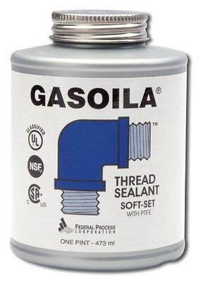 Gasoila Pipe Thread Sealant SOFT-SET with PTFE one pint with brush SS16