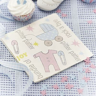 "Babyparty ""Little Star"" Papierserviette 20 St. - Babyparty Serviette Baby Shower"