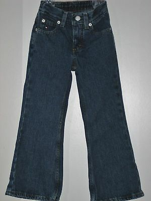 TOMMY HILFIGER Girl Size 4 Blue Denim Bell Bottom Jeans (Made in Canada)
