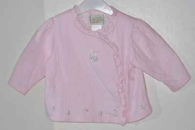 HEIRLOOMS by POLLY FLINDERS Size 0-3 Months Pink Long Sleeve Tops ~ Shirt