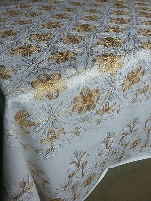 Aghabani Tablecloth with Gold Embroidery ♡♤☆