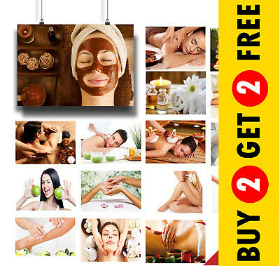 20+ Options: Spa Massage Salon Wellbeing Health And Beauty Posters Prints A3 A4