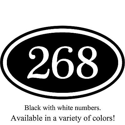 """Personalized House Address Number Sign Aluminum Plaque 12"""" x 7"""" Custom Colors"""