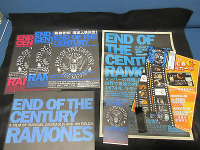 Ramones End of Century Japan Film Program Book with Ticket Stub Flyer Budge Punk