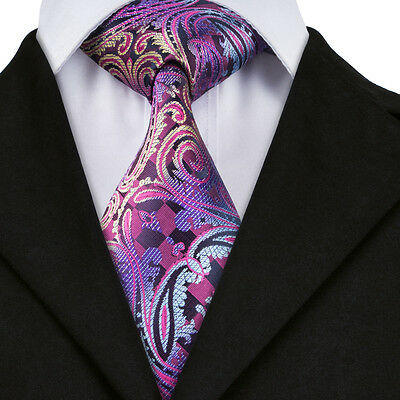 A-638 New Classic Men's Tie 100% Jacquard Woven Silk Ties Necktie Free Shipping