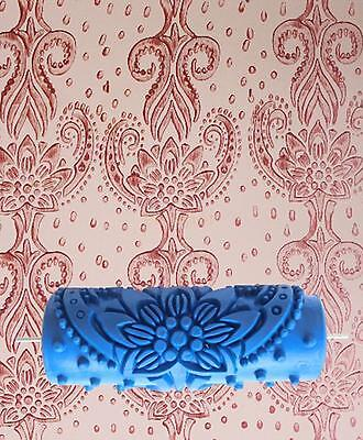 15cm Flower Embossed Painting Roller Wallpaper Tool Home Wall DIY Decoration