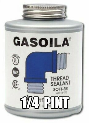 Gasoila Pipe Thread Sealant SOFT-SET with PTFE 1/4 pint with brush SS04