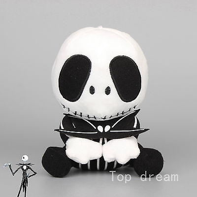 New The Nightmare Before Christmas Jack Skellington Plush Soft Toy Doll Gift 8''