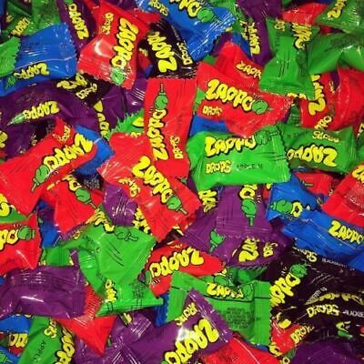 Bulk Sweets x 100  ZAPPO DROPS  Individually Wrapped Party Favours Candy Lollies