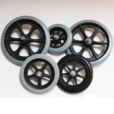 1xPair 5 inch / 6 inch / 8 inch Front Wheels for manual wheelchair