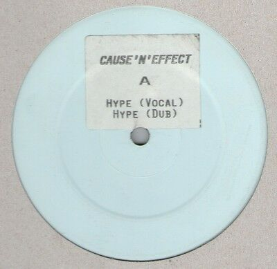 "Cause 'n' Effect / Hype 12"" Og 1990 Uk Hip Hop Vinyl Stickered W/l Rare Britcore"