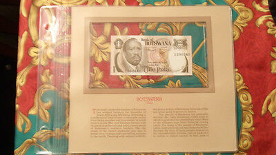 Most Treasured Banknotes Botswana P1a 1 Pula 1976 UNC Prefix A/16
