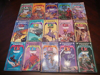 Complete set of Del Rey 15 Thompson OZ books ~ Wizard of oz ~ Frank Baum
