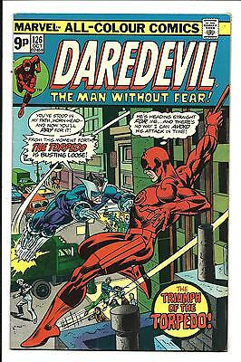 DAREDEVIL # 126 (1st NEW TORPEDO, OCT 1975), VF