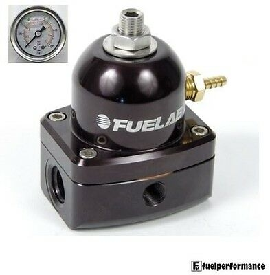 FUELAB EFI Fuel Pressure Regulator (BLACK)  #51502-1 *Free Pressure Gauge*
