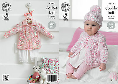 KINGCOLE 4315  BABY DK KNITTING PATTERN  16-26 IN -not the finished garments