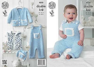 KINGCOLE 4232 Baby DK Knitting Pattern --sizes 14-22 Not the finished items