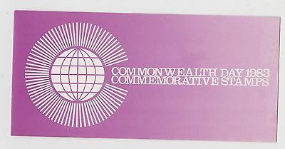 (JT-202) 1983 Singapore 4set Commonwealth Day Stamp Pack