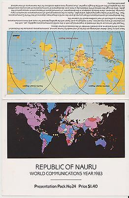 (JT-200) 1983 Nauru 5set World Communications stamp pack