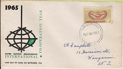 (JT-53) 1965 AU 4d UN FDC international Co-op Year (grubby) used