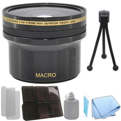 0.14x Xtreme HD Fisheye Lens 58 mm for Canon 5D Mark III T3 6D EOS-M + Kit