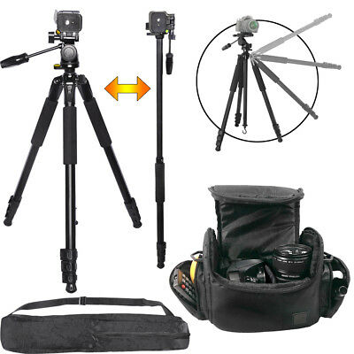 "72"" Tripod/Monopod + Deluxe Large Camera Bag for DSLR Cameras & Camcorders"