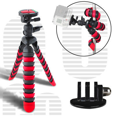 """12"""" Flexible Spider Tripod for GoPro HERO 6, 5, 4, 3+, 3, 2, 1 Session Cameras"""