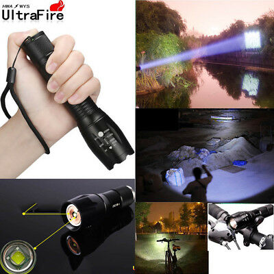 Tactical Ultrafire 50000Lumens T6 LED Flashlight Zoomable 18650 Military Torch