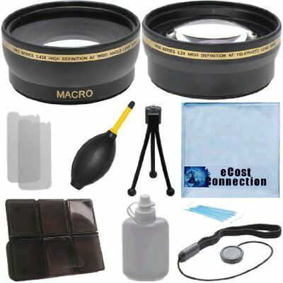 58mm 0.43x Wide Angle Lens + 2.2x Telephoto Kit for Canon EOS-M SLI XT 30D