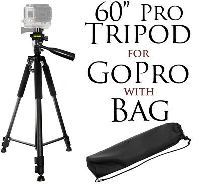 "60"" Pro Series Tripod for GoPro HERO6, 5, 4, 3+, 3, 2, 1, Session, Fusion Camera"