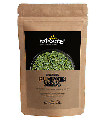 Nutrenergy Raw Organic Pumpkin Seeds (Shine Skin) | Free Tracked Delivery