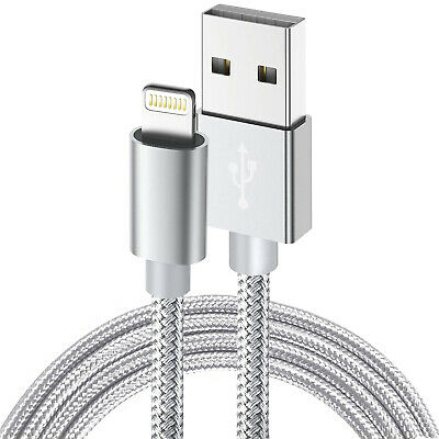 [Apple MFI Certified]Lightning Cable Braided 8pin to USB SYNC Charge Cord iPhone